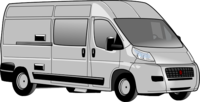 Van for carrying luggage to and from Heathrow Airport